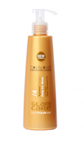 GLAM CARE Xpress Therapy Maska do rekonstrukcji włosów z keratyną, Arganen i Olejem Macadamia 250ml EXCLUSIVE
